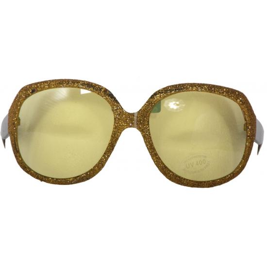 Fun brillen met gouden glitters