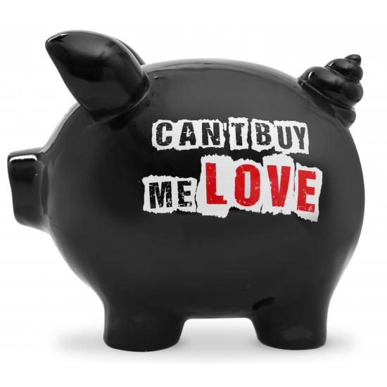 Gadget spaarpot varkentje Can t buy me Love 20 cm
