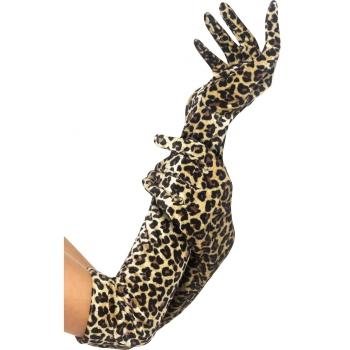 Gala handschoenen met luipaard print