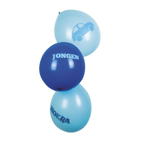 Geboorte ballonnen blauw 6 stuks