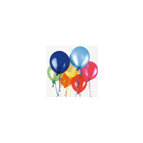 Gekleurde ballon servetten