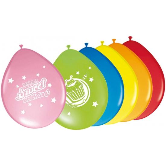 Gekleurde ballonnen voor verjaardag 8 stuks