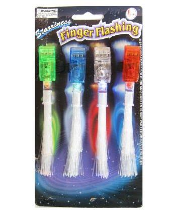 Gekleurde fiberlights voor op je hand