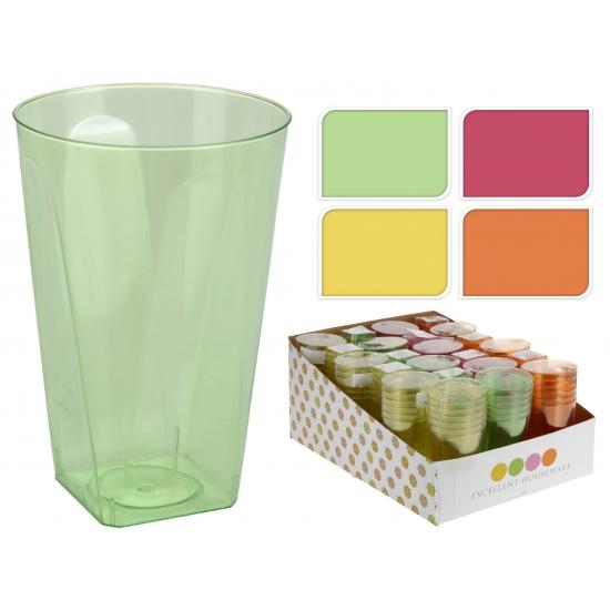 Gekleurde glazen van plastic