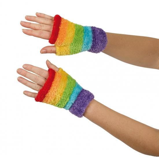 Gekleurde handschoenen zonder vingers