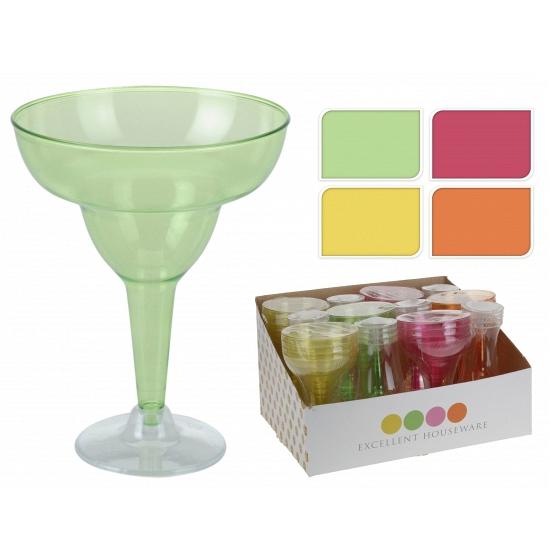 Gekleurde margarita glazen van plastic