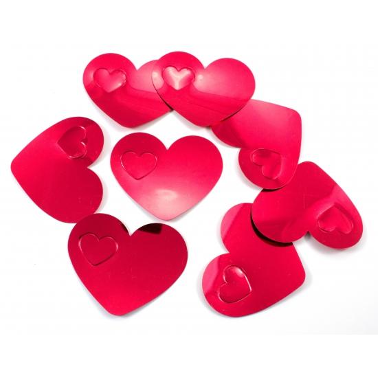 Gekleurde mega confetti rode hartjes