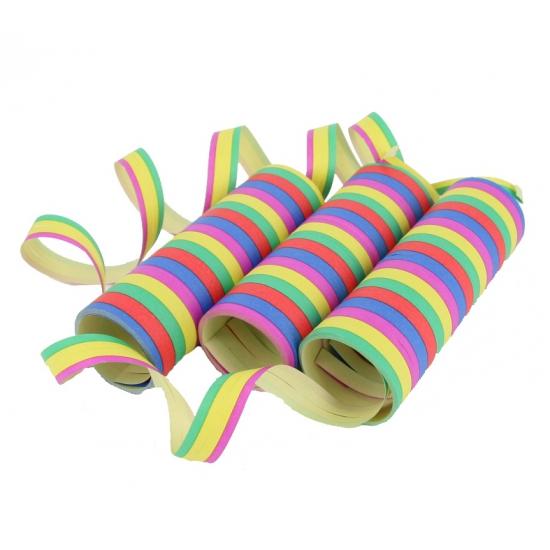 Gekleurde serpentines 3 rollen