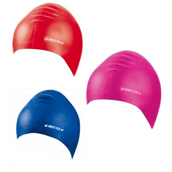 Gekleurde siliconen badmuts voor kids