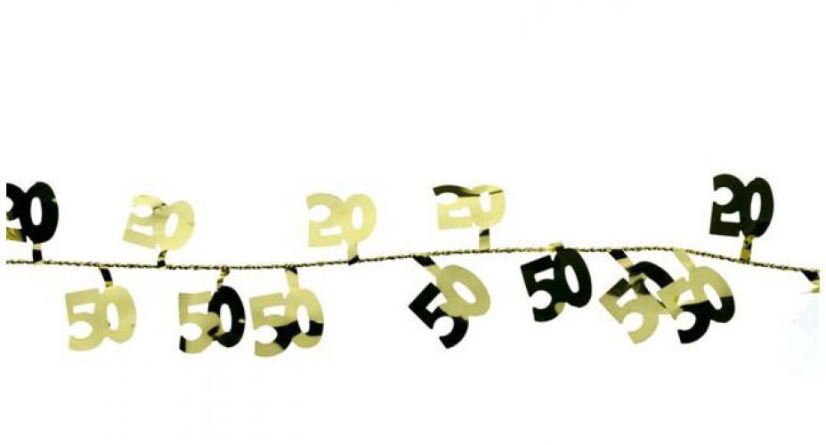 Gekleurde slingers 50 jaar 270 cm