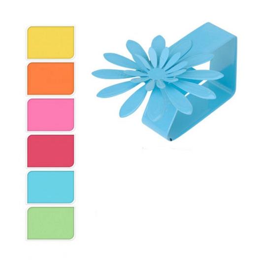 Gekleurde tafelkleedklemmen bloemvorm