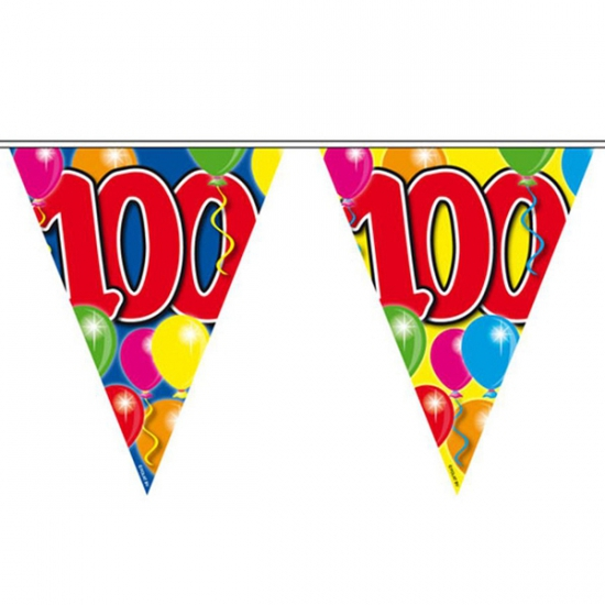 Gekleurde vlaggenlijn 100 jaar