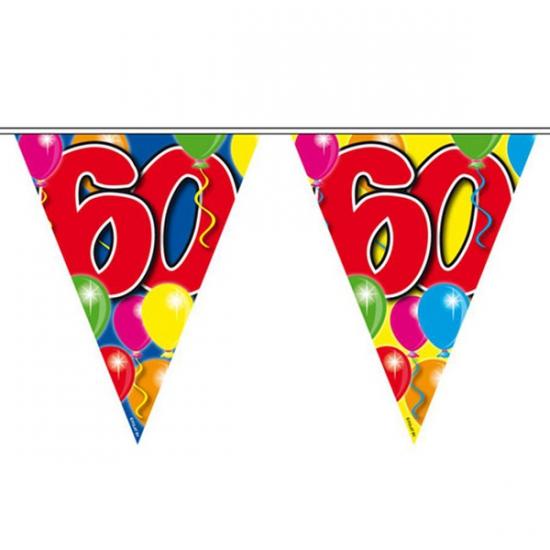 Gekleurde vlaggenlijn 60 jaar