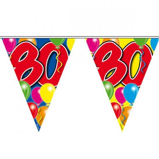 Gekleurde vlaggenlijn 80 jaar