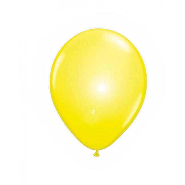Gele ballonnen met LED verlichting 5 stuks
