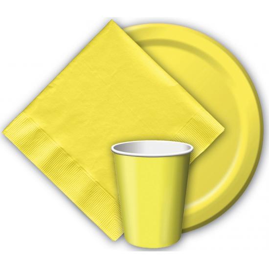 Gele servetten 20 stuks