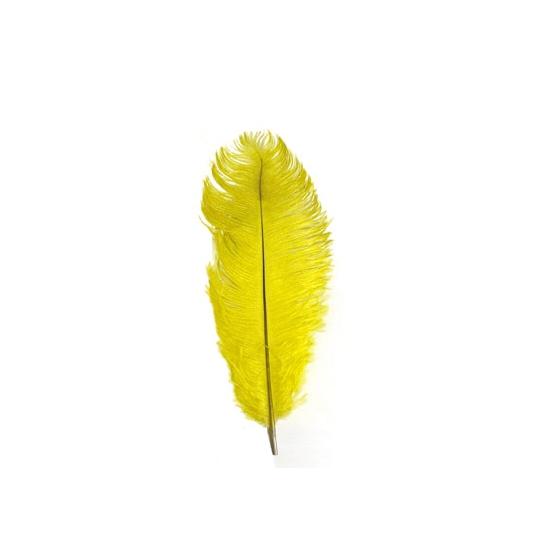 Gele veren 35 cm