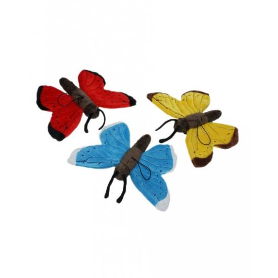 Gele vlinder knuffels 21 cm