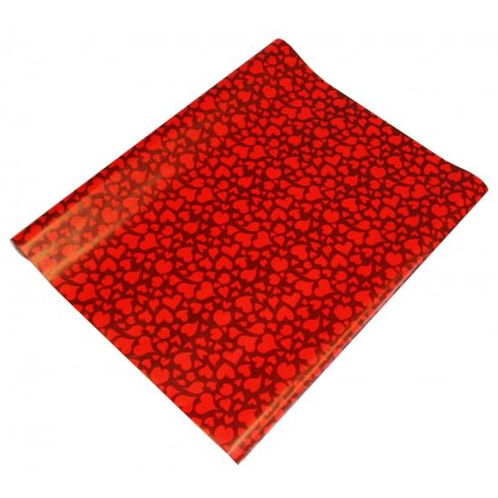 Geschenkpapier rode hartjes