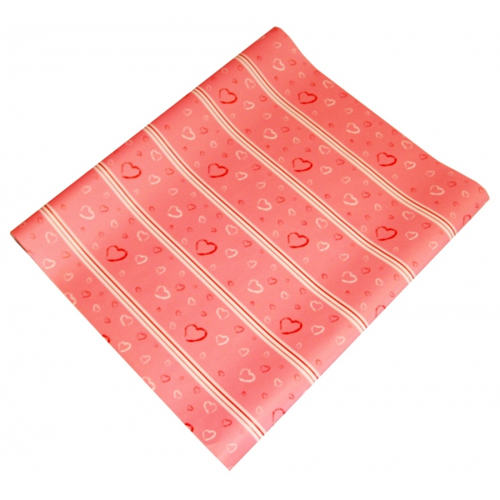 Geschenkpapier roze met hartjes