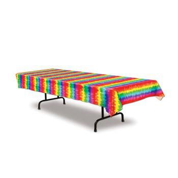 Gestreept tafelkleed felle kleuren 275 cm