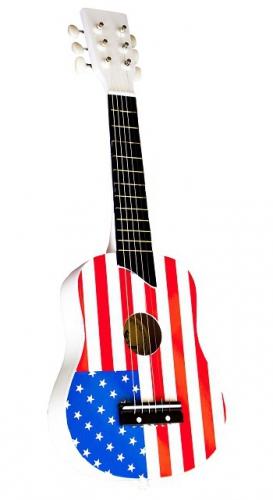 Gitaar met vlag van amerika