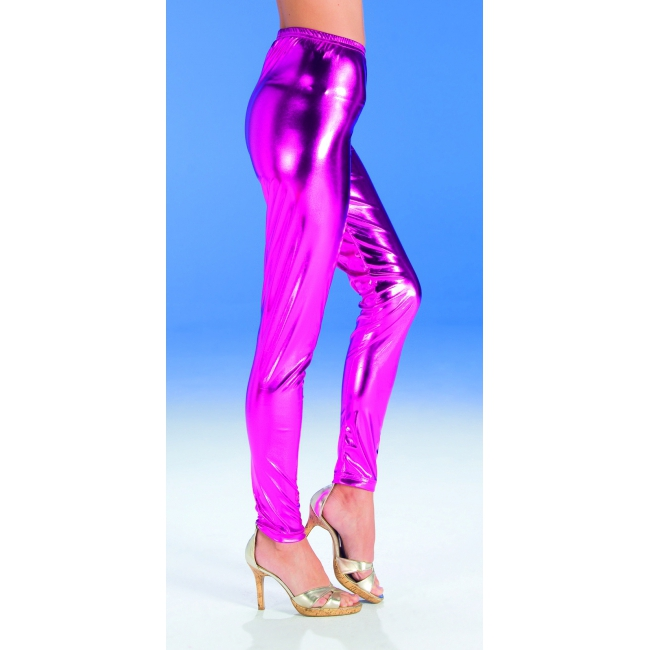 Glanzend roze legging