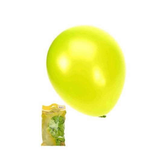 Glanzende ballonnen appeltjesgroen 50 stuks