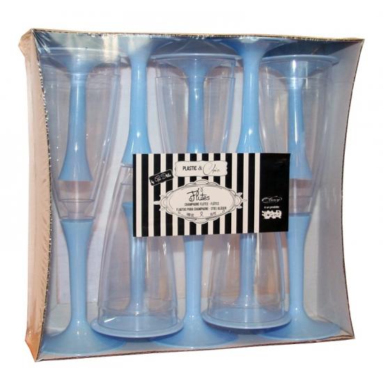 Glazen met blauwe voet 10 stuks