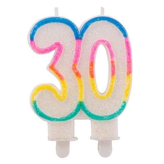 Glitter kaars 30 jaar
