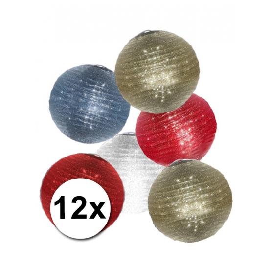 Glitter lampionnen pakket 12 stuks