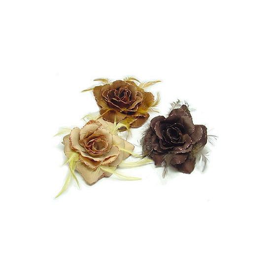 Glitter roos in naturel tinten