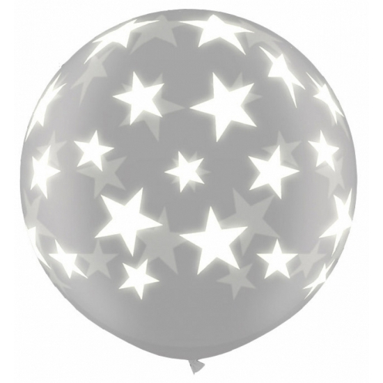 Glow in the dark ballon sterren 91 cm