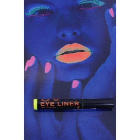 Glow in the dark eyeliner geel