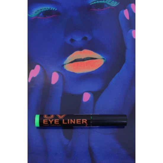 Glow in the dark eyeliner groen