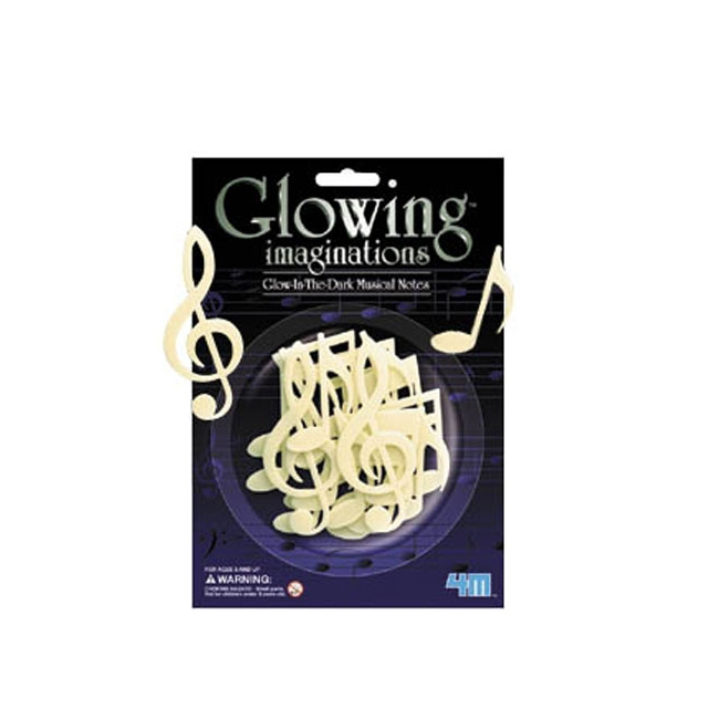 Glow in the dark muziek decoratie
