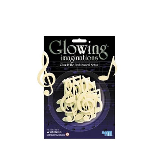 Glow in the dark muzieknoten 16 stuks