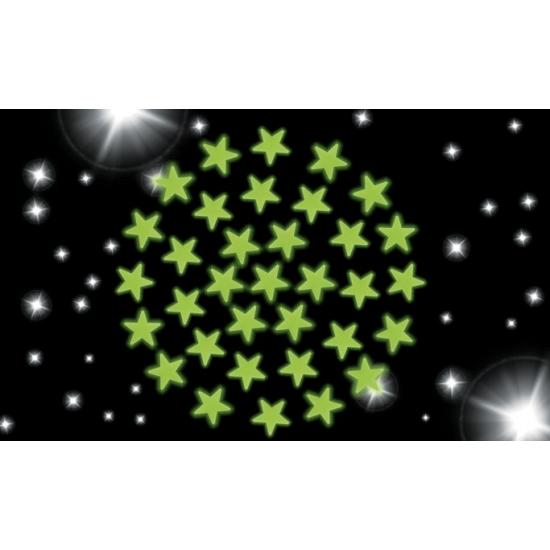 Glow in the dark sterren hemel 204 stuks