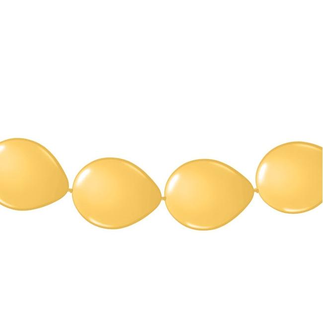 Gouden ballonslingers 3 meter