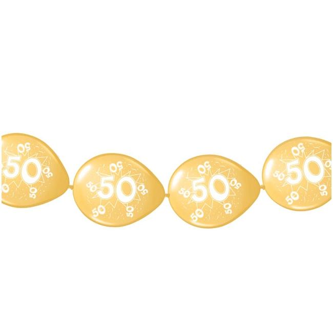 Gouden ballonslingers 50 jaar