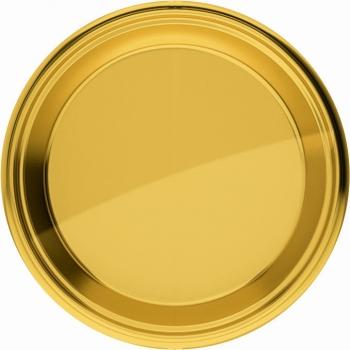 Gouden bordjes rond 18 cm