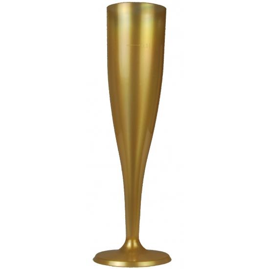 Gouden champagne glazen 6 stuks