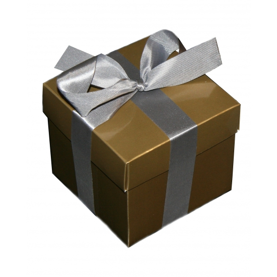 Gouden decoratie doosje 10 cm
