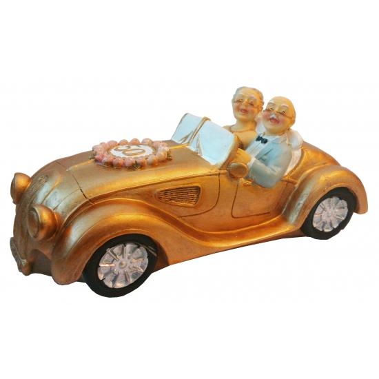 Gouden huwelijk spaarpot auto
