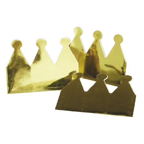 Gouden kroontjes van papier 6 x