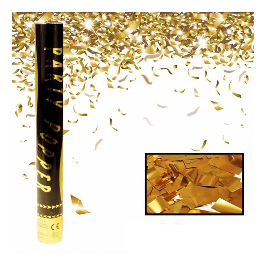 Gouden party confetti shooter 40 cm