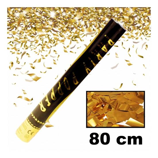 Gouden party confetti shooter 80 cm