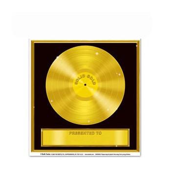 Gouden plaat stickers