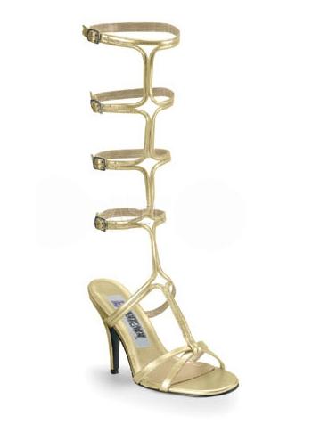 Gouden Romeinse laarzen met hak