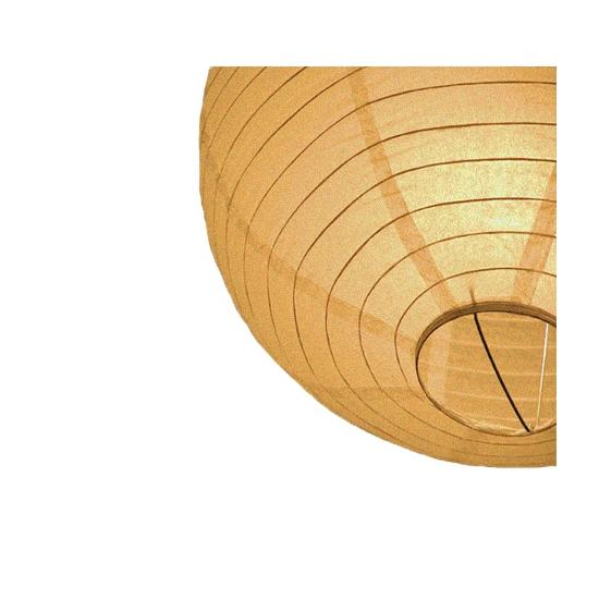 Gouden ronde lampion 25 cm